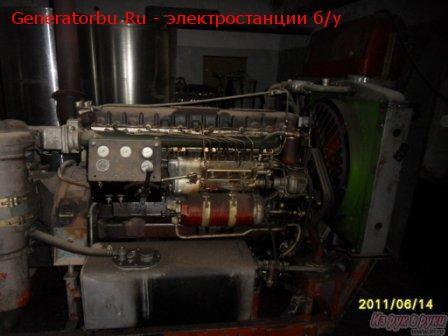 Дизель генератор АД-100-Т400 (100квт, 380В), 1995г.в., дизель 1Д6, на раме