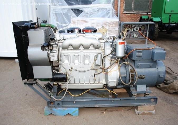 Дизельный генератор с конверсии АД-60 (60 кВт) ЯМЗ 236 г. Москва.